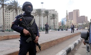 Tahrir Square is almost deserted and heavily policed on the eve of the fifth anniversary of the 25 January uprising.
