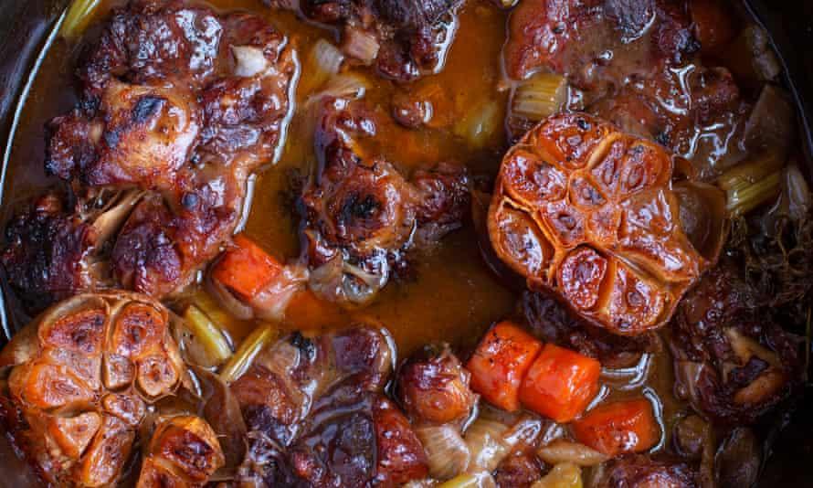 Bonnie bones: braised oxtail with smoked garlic.
