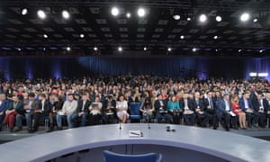 Journalists at Putin press conference