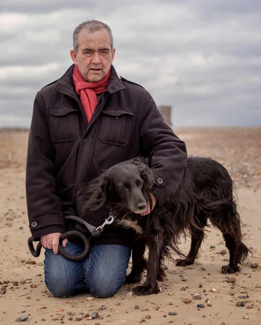 David Jones and his dog