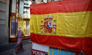 Spanish flag in Madrid