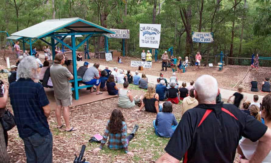 More than 100 people at the river rally discussed ways to protect it