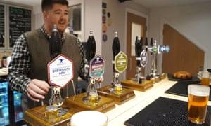 Beers on tap at the Brink