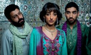 Adeel Akhtar (left) as Shahzad with Kiran Sonia Sawar as Salma and Mawaan Rizwan as Imi.