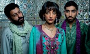 Adeel Akhtar, Kirwan Sonia Sawar, and Mawaan Rizwan in Murdered By My Father.