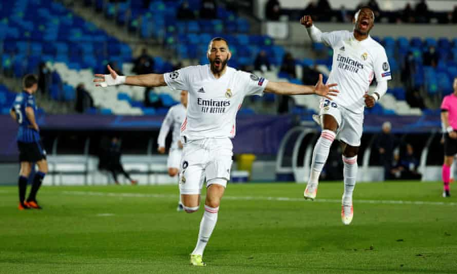 Real Madrid And Benzema Put Out Atalanta Fire To Sweep Into Quarter Finals Champions League The Guardian