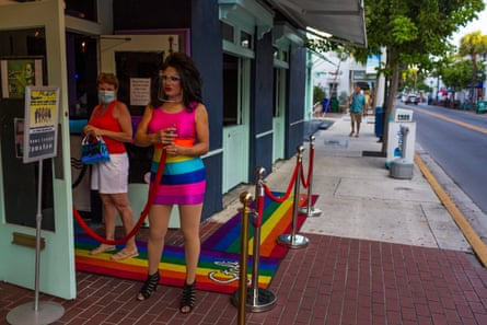 Main entrance to Aqua night club in Key West, Florida on September 18, 2020.