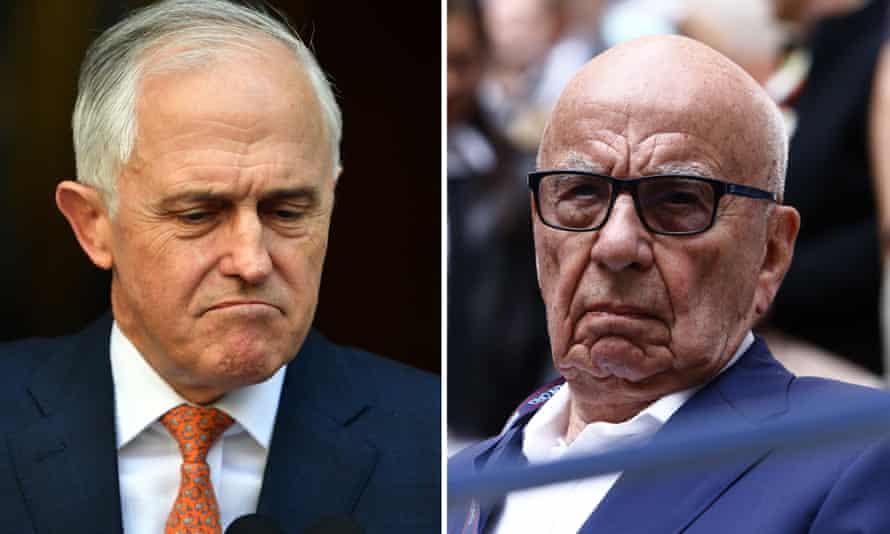 Malcolm Turnbull and Rupert Murdoch