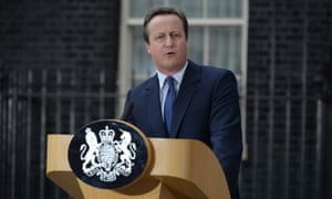 David Cameron delivers his last speech as PM outside No 10 before resigning following the EU referendum result in 2016.