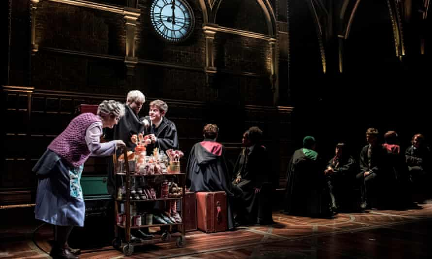 A trolley of treats on the Hogwarts Express: Harry Potter and the Cursed Child.