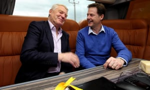 Nick Clegg talks to Lord Ashdown, chair of the Liberal Democrats 2015 general election team