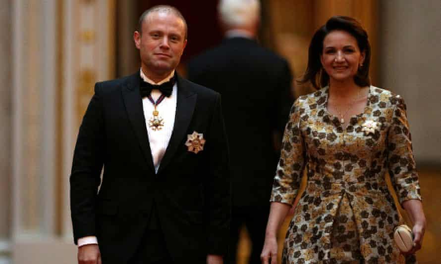 Joseph Muscat, his wife Michelle