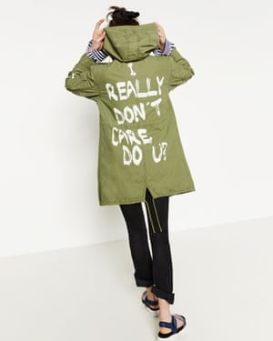 The jacket as it appears on the Zara website