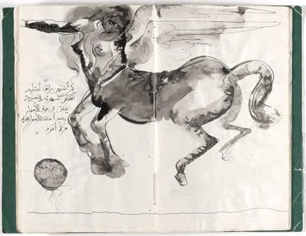 Prison Notebook, 1976, by Ibrahim el-Salahi.