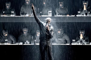 Stormzy performs at the Brit awards 2018 held at the O2 Arena in London, England