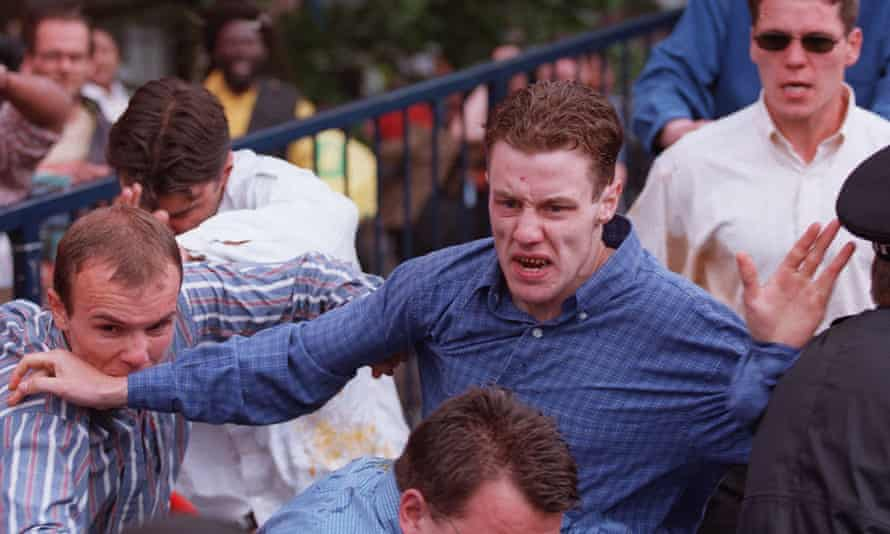 A file photo dated June 30 1998 shows David Norris, being pelted with eggs after leaving a public inquiry into police handling of the case in London.