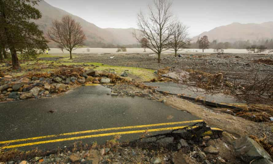 Aftermath of Storm Desmond in Cumbria