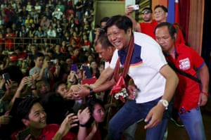 Bongbong Marcos campaigns for the vice-presidency