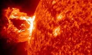 A large eruption on the surface of the sun, 2012.