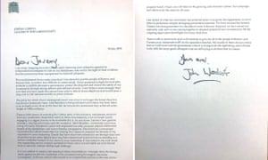 John Woodcock's resignation letter