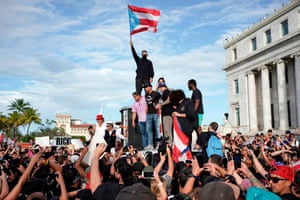 San Juan, Puerto Rico Protesters take part in a demonstration demanding Governor Ricardo Rosselló's resignation