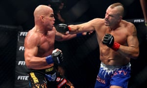 Chuck Liddell (right) and Tito Ortiz fought in California last month but the bout was widely criticised