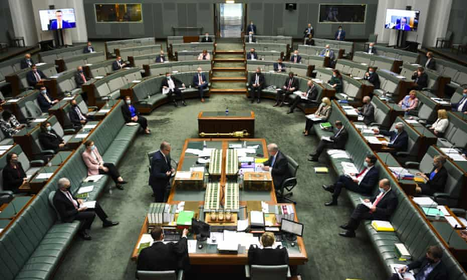 General view of the House of Representatives in Canberra