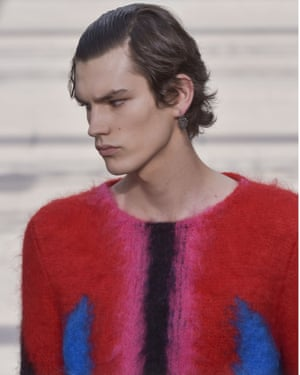 Mohair on show on the Louis Vuiton catwalk.
