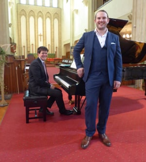 Relaxed and lyrical … James Baillieu and Marcus Farnsworth at the Three Choirs festival.