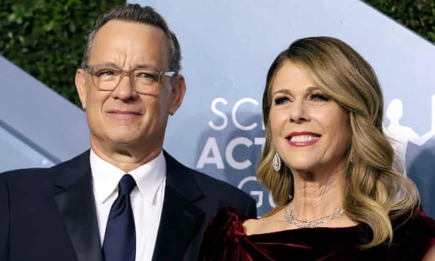 Tom Hanks and Rita Wilson at the Screen Actors Guild Awards in January 2020