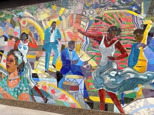 Louis Delsarte's mural, The Spirit of Harlem.