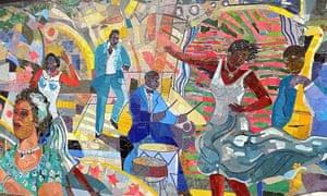 Louis Delsarte's mural, The Spirit of Harlem.