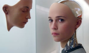 """Alicia Vikander In this image released by A24 Films, Alicia Vikander appears in a scene from """"Ex Machina."""" AP film writers Jake Coyle and Lindsey Bahr select their picks for the best movies of the year in 2015, including """"Ex Machina,"""" """"Carol,"""" """"Kumiko, The Treasure Hunter,"""" """"Spotlight,"""" and others. (A24 Films via AP)"""