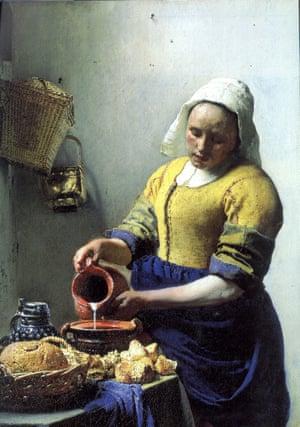 The Milkmaid, c.1657-8, by Johannes Vermeer/