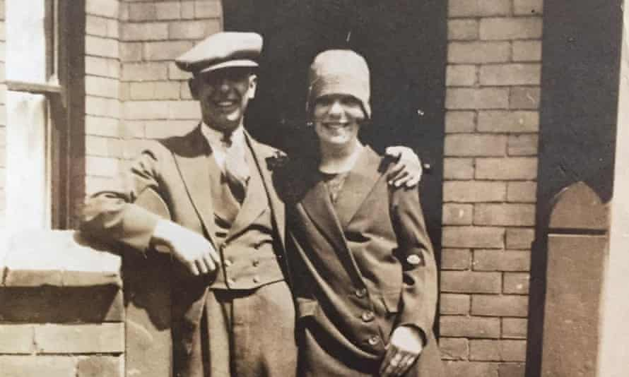 Hilda Churchill with her husband in 1929.
