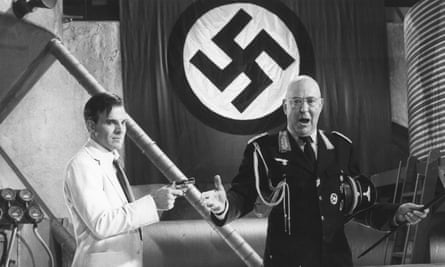 Carl Reiner, right, and Steve Martin in the film Dead Men Don't Wear Plaid, 1982.