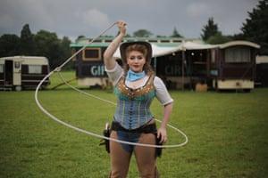 Gun-slinging, rope-spinning cowgirl Lilian Konyot