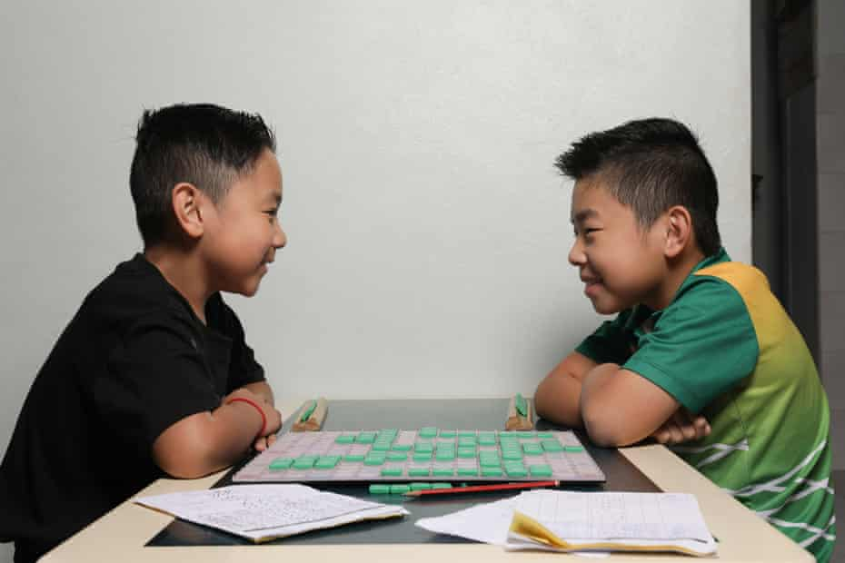 Brothers Jeffery Lam, 8 and Alex Lam, 11