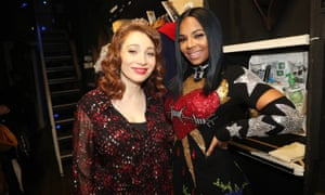 Regina Spektor and Ashanti backstage at The Hamilton Mixtape.