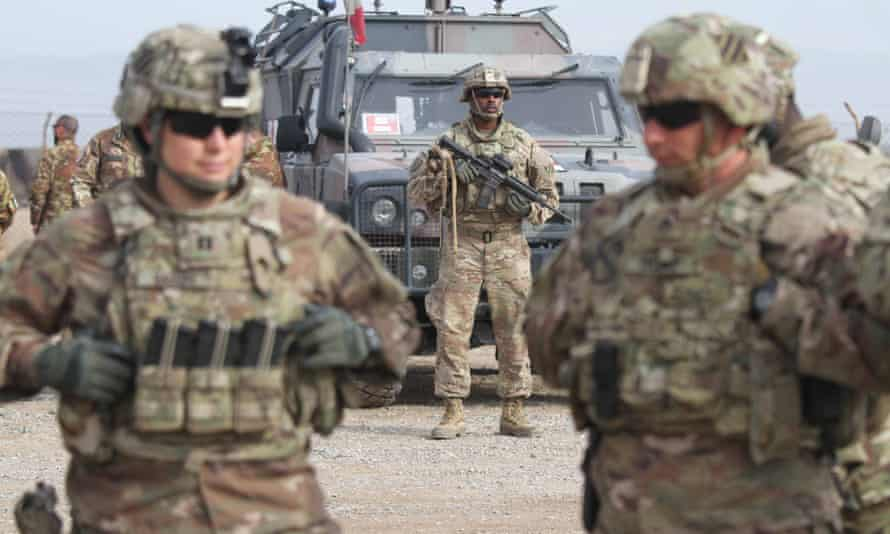US soldiers attend a training session for the Afghan army in Herat, Afghanistan, 2 February 2019.
