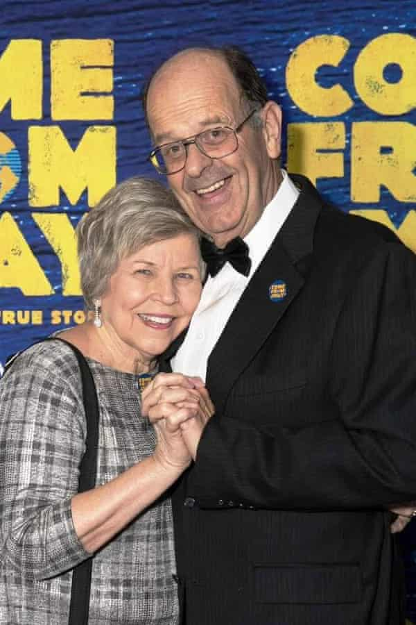 The real Nick and Diane at the Australian opening of Come From Away in Melbourne in 2019.