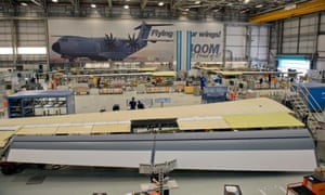 The Airbus wing factory at Filton, Bristol. Engineering firms are concerned about disruption to supply chains.