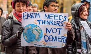New York climate activist groups campaigning in January 2017.