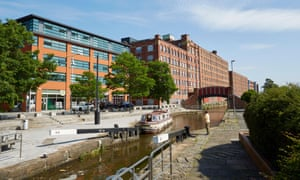 Canalside homes in Manchester.