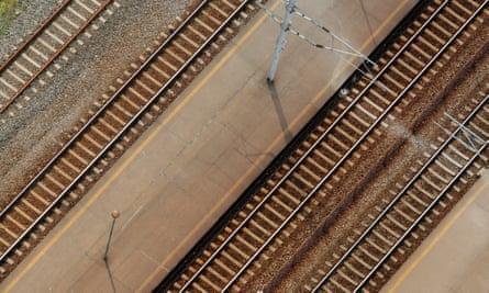 Railtracks seen from above