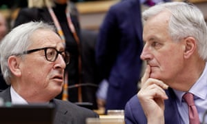 The European commission president Jean-Claude Juncker and the commission's chief negotiator, Michel Barnier.
