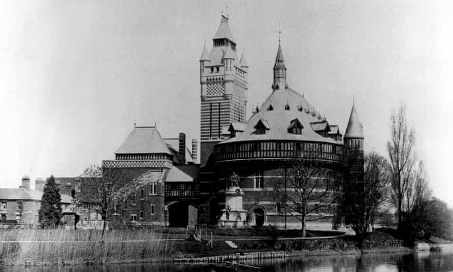 The Shakespeare Memorial Theatre in Straford-upon-Avon, before it was destroyed, 1900.