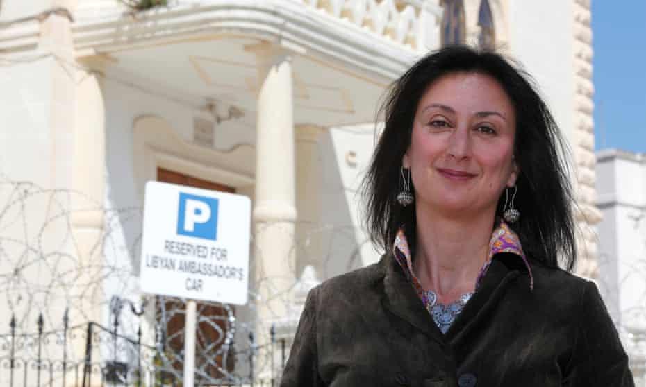 Maltese investigative journalist Daphne Caruana Galizia, who was murdered by a car bomb in 2017.