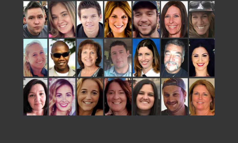 Composite image 21 of the named victims of the Las Vegas shooting.