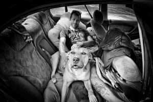 Luke and his dog Rocky, from the book No Fixed Abode